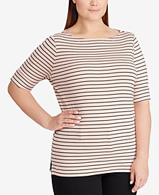 Lauren Ralph Lauren Plus Size Stretch Top