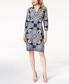 Charter Club Medallion-Print Shift Dress, Created for Macy's