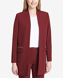 Calvin Klein Open-Front Topper Jacket, Regular & Petite