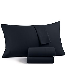 Charter Club Solid 4-Pc Queen Sheet Set, 700 Thread Count Cotton Blend, Created for Macy's