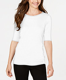 Eileen Fisher Tencel® Elbow-Sleeve Top