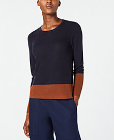 Eileen Fisher Tencel® Long-Sleeve Colorblocked Sweater