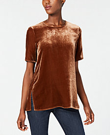 Eileen Fisher Velvet Short-Sleeve Top, Regular & Petite