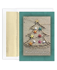 Sand Tree Holiday Boxed Cards, 18 Cards and 18 Foil Lined Envelopes