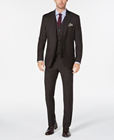 Lauren Ralph Lauren Men's Classic/Regular Fit UltraFlex Brown Check Vested Wool Suit