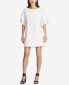 DKNY Chiffon-Sleeve Shift Dress, Created for Macy's