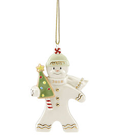 Lenox 2018 Gingerbread Greetings Ornament