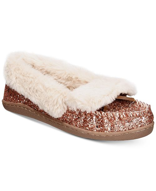 I.N.C. Yasmina Faux-Fur Slippers, Created for Macy's