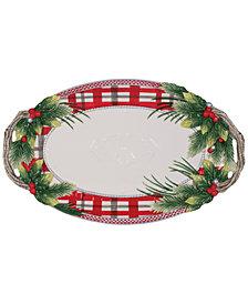 Fitz and Floyd Tartan Christmas Large Platter