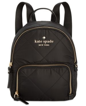Watson Lane - Quilted Small Hartley Nylon Backpack - Black, Black/Gold