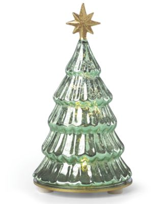 Wintery Woods Lit Mercury Glass Pine Tree