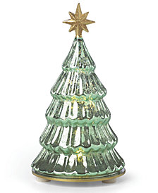 Lenox Lit Mercury Glass Pine Tree Figurine
