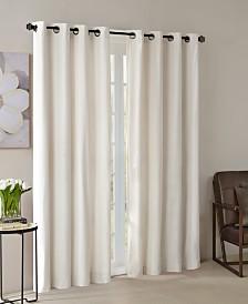 """Madison Park Monroe 50"""" x 84"""" Solid Velvet Thermal Grommet Window Panel"""