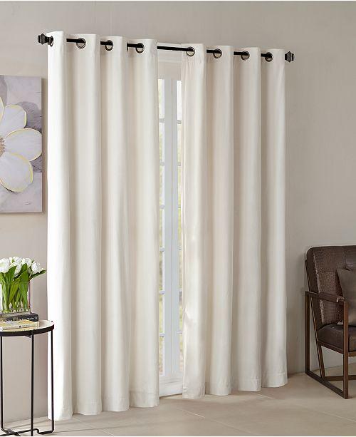 "Madison Park CLOSEOUT! Monroe 50"" x 84"" Solid Velvet Thermal Grommet Window Panel"