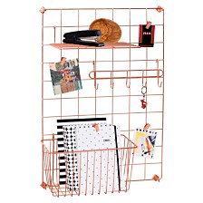 Honey Can Do 4-Pc. Copper Grid Wall Kit