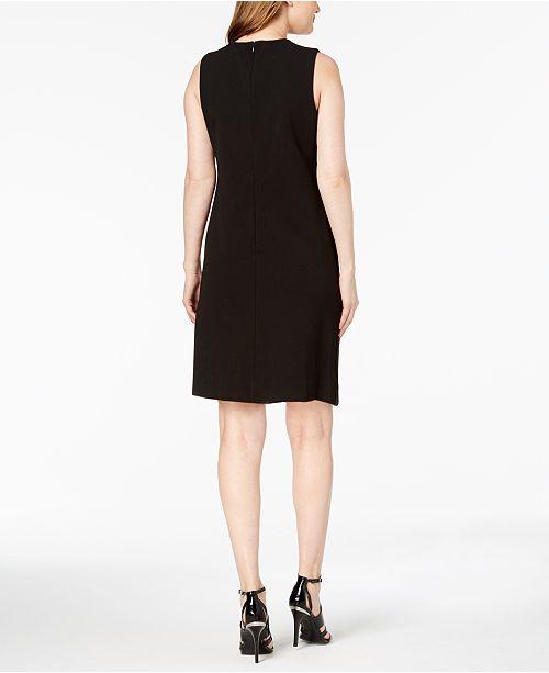 Calvin Klein Jewel Neck Sleeveless Sheath Dress Dresses Women