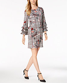 Alfani Tiered-Sleeve A-Line Dress, Created for Macy's
