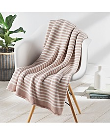 Double Stripe Knit Throw