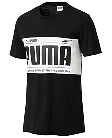 Puma Men's Colorblocked Logo T-Shirt
