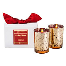 Aromatique Holiday Boxed Glass Votive Set