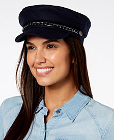 I.N.C. Flannel Newsboy Cap, Created for Macy's
