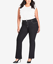 City Chic Trendy Plus Size Bootcut Jeans