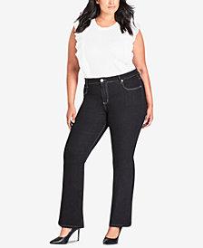City Chic Trendy Plus Size Bootcut Jeans