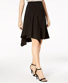 MSK Petite Asymmetrical A-Line Skirt