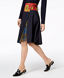 Weekend Max Mara Cambio Pleated-Panel Wrap Skirt