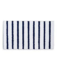 "Charter Club Elite Stripe 19.3"" x 34"" Fashion Bath Rug, Created for Macy's"