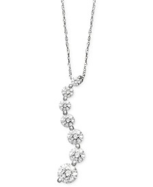 14k White Gold Necklace, Swarovski Zirconia Journey Pendant (4-5/8 ct. t.w.)