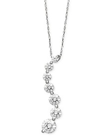 Arabella 14k White Gold Necklace, Swarovski Zirconia Journey Pendant (4-5/8 ct. t.w.)