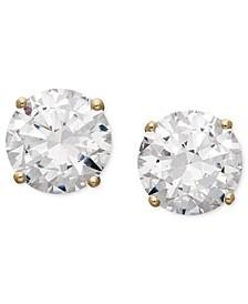 Arabella 14k Gold Earrings, Swarovski Zirconia Round Stud Earrings (6-5/8 ct. t.w.)