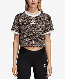 adidas Originals Leoflage Printed Cropped T-Shirt