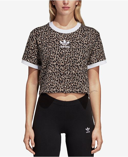 a32ba7fcd5ed15 adidas Leoflage Printed Cropped T-Shirt   Reviews - Tops - Women ...