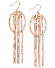 GUESS Gold-Tone Circle & Fringe Drop Earrings