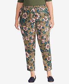 Lauren Ralph Lauren Plus Size Floral-Print Twill Pants