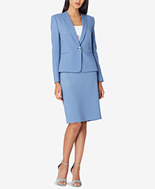Tahari ASL Inset-Lapel Skirt Suit