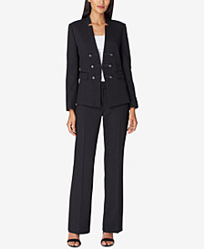 Tahari ASL Faux-Double-Breasted Pantsuit