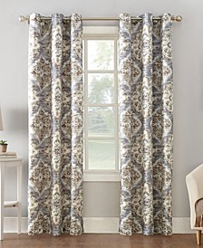 Regina Watercolor Floral Thermal Insulated Curtain Collection