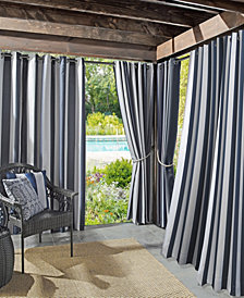 Sun Zero Valencia Cabana Stripe Indoor/Outdoor UV Protectant Curtain Collection