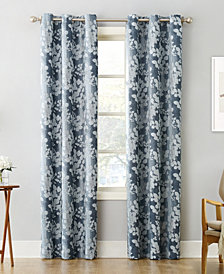 "Sun Zero Piper Foliage 40"" X 84 Print Blackout Grommet Curtain Panel"