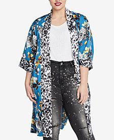 RACHEL Rachel Roy Trendy Plus Size Printed Kimono