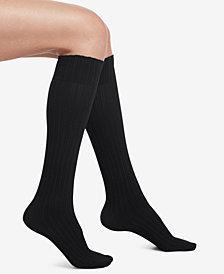 HUE® Micro Cable-Knit Knee-High Socks