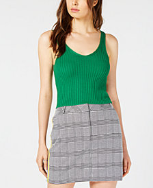 PROJECT 28 NYC  Ribbed-Knit Cropped Tank Top