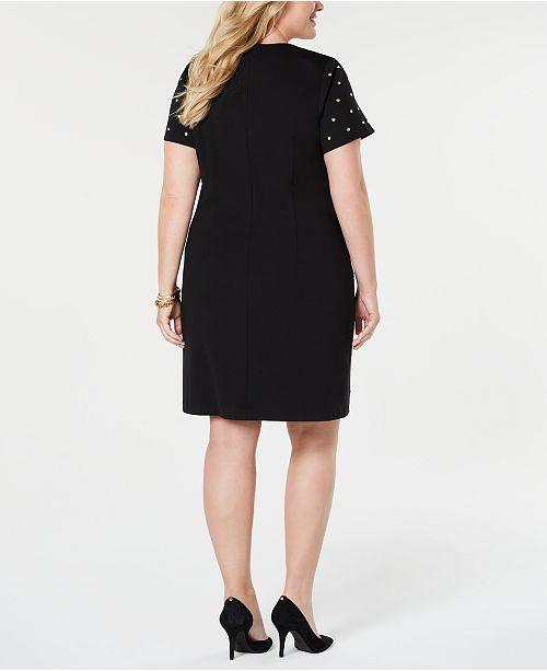 Michael Kors Plus Size Studded Sheath Dress Dresses Plus Sizes