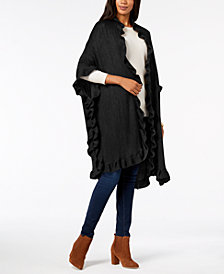 Charter Club Ruffled Poncho, Created for Macy's