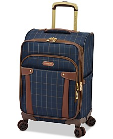 "London Fog Brentwood 20"" Softside Carry-On Spinner Suitcase, Created for Macy's"