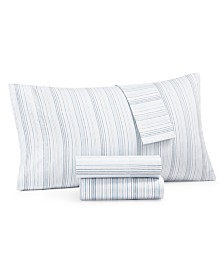 Martha Stewart Collection 4-Pc. Printed Full Sheet Set, 400 Thread Count 100% Cotton Percale, Created for Macy's