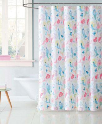 Kids Mermaids Shower Curtain